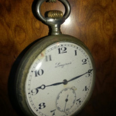 Ceas functional de buzunar vechi din argint cu lant - Ceas de buzunar vechi