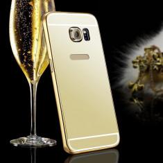 Husa Samsung Galasy S6 Egde Plus TIP OGLINDA AURIE ( GOLD ) - Husa Telefon Samsung, Samsung Galaxy S6 Edge Plus, Auriu, Silicon