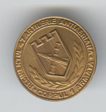 REGIMENTUL 47 Artilerie Antiaeriana - Corpul 1 Armata - Insigna MILITARA - Rara