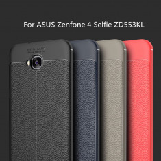 Husa / Bumper Antisoc model PIELE pentru Asus Zenfone 4 Selfie ZD553KL