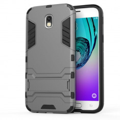 Husa Samsung Galaxy J7 2017 - Hybrid Stand, Alt model telefon Samsung, Gri, Plastic