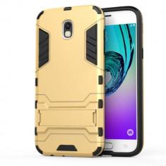 Husa Samsung Galaxy J7 2017 - Hybrid Stand, Alt model telefon Samsung, Auriu, Plastic