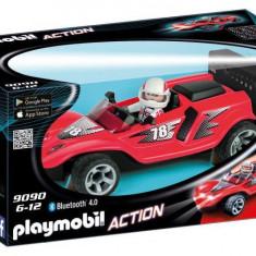 Masina de curse cu telecomanda rosie - Playmobil