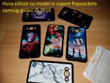 Husa silicon cu model si suport Popsockets samsug galaxi J5 2016, Samsung