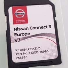 SD Card original navigatie NISSAN Connect 3 V3 Europa + ROMANIA 2018