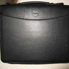 Geanta laptop piele Dell, maxim laptop 12 inch XGA, Negru
