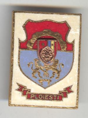 Insigna  HERALDICA - Republica Socialista Romania - stema PLOIESTI foto