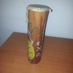 Toba vintage artizanala Jamaica din bambus /piele