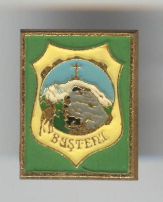Insigna TURISM - ALPINISM - FAUNA & VANATOARE - BUSTENI foto