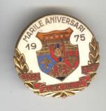Insigna  HERALDICA - Republica Socialista Romania - stema ALBA IULIA
