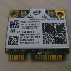 Placa wireless HP 631954-001, Lenovo 60Y3253, LC 20002533, Intel Advanced-N 6205