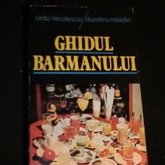 GHIDUL BARMANULUI-RADU NICILESCU- D, TRU MLADIN-253 PG- - Carti Industrie alimentara