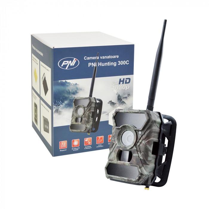 Resigilat : Camera vanatoare PNI Hunting 300C cu INTERNET 12MP Night Vision transm