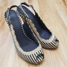 Sandale cu platforma marime 35 - Sandale dama, Culoare: Din imagine