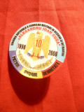 Insigna Uniunea Nationala a Cadrelor Militare in Rezerva si Retragere ,d=4 cm