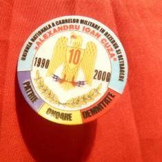 Insigna Uniunea Nationala a Cadrelor Militare in Rezerva si Retragere, d=4 cm