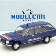 Macheta Peugeot 504 Break Gendarmerie - Modelcar Group scara 1:18