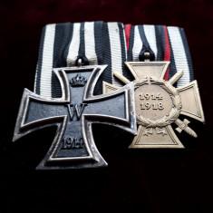 Bareta Crucea de Fier si Crucea de Onoare Germania WW1 medalie Primul Razboi M., Europa