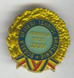 Scoala Ofiteri TEHNICI ARTILERIE - Insigna MILITARA