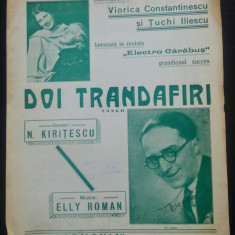 Doi trandafiri/ tango de Elly Roman// partitura
