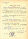 Z391 DOCUMENT VECHI-ACT ANGAJAMENT -SCOALA PROFESIONALA COMERCIALA, BRAILA 1953