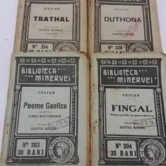 LOT 4 CĂRȚI BIBLIOTECA MINERVEI / NR. 203, 204, 214, 226/ 1916 - Carte veche