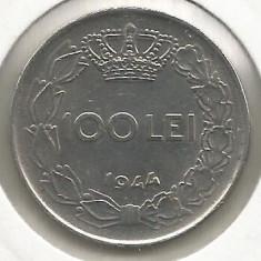 ROMANIA MIHAI I - 100 LEI 1944 [4] livrare in cartonas - Moneda Romania, Fier