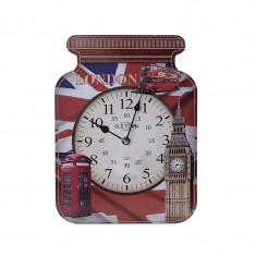Ceas decorativ de perete din lemn London 31 cm
