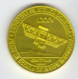 Aniversare 75 ani de Scoala de aviatie din Romania 1911-1986 - Medalie AVIATIE