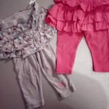 Pantaloni , colanti GAP (roz) 6-12luni si C&A (gri) 12 luni, 9-12 luni, Din imagine