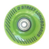 Set 4 roti longboard D Street 70mm/78A cu rulmenti Abec7