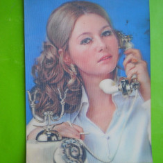 HOPCT 35432 JAPONIA FEMEIE CU TELEFON -CP STEREO 3 D -CIRCULATA, Printata
