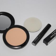 Set MAC cosmetics : pudra de fata + tus de ochi, Compacta