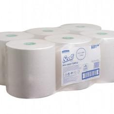 Prosop matic, alb, 1 str, 350 m, 6 role / bax Scott Max - Prosop baie