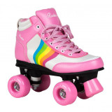 Patine cu rotile Rookie Forever Rainbow Pink Multi, 40,5