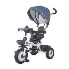 Tricicleta multifunctionala MamaLove Rider Albastru - Tricicleta copii