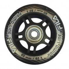 Set 8 Roti Fila negre 80mm duritate 82a cu rulmenti Abec 5