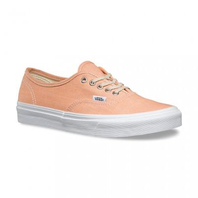 Shoes Vans Authentic Slim Chambray coral/true white foto