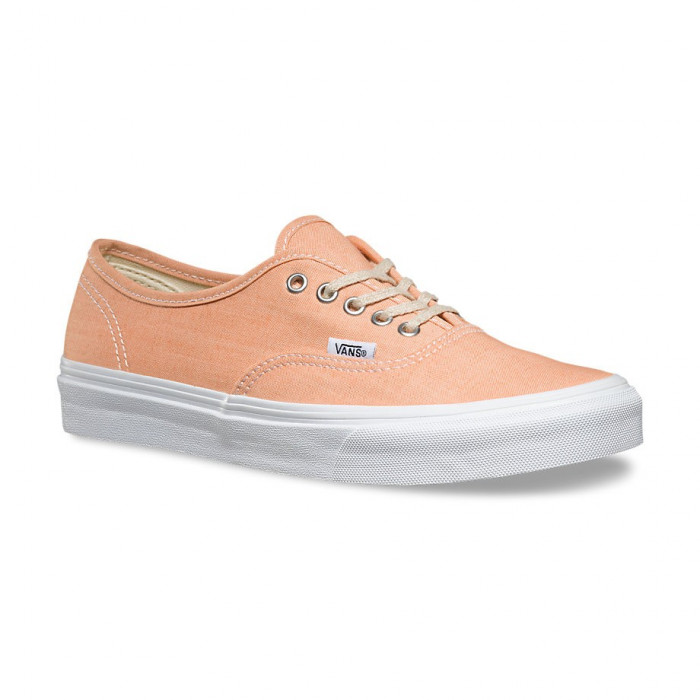 Shoes Vans Authentic Slim Chambray coral/true white