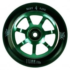 Roata Trotineta Delta 841 110mm + Abec 7 verde