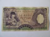 Rara! Indonezia/Indonesia 1000 Rupiah 1958