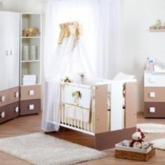 Set Mobilier Camera Copii Si Bebelusi KLUPS PAULA Latte - Set mobila copii