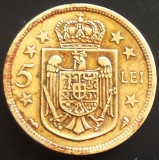 Moneda 5 Lei - ROMANIA, anul 1930  *cod 1022  PARIS