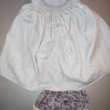Rochita+ chilotei BELAN ,12-18 luni, lungime 42 cm, Din imagine
