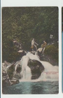 Alesd  jud. Bihor - Cascada de pe paraul Bistrita-  Padurea neagra  1900 foto