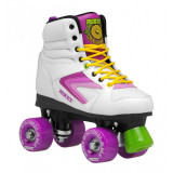 Patine cu rotile Roces Kolossal White/Purple/Yellow, 36 - 41