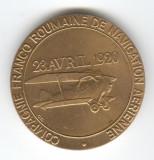 Companie de Navigatie Aeriana Franco - Romana - Medalie AVIATIE -  romaneasca