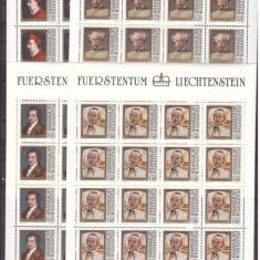 Liechtenstein 1981 - personalitati-pictura, serie coli neuzate