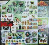 MINICOLECTIE TEMATICA-FLUTURI, 20 UNITATI (SERII,COLITE,M/SH), NEOBLIT. -  WS 96, Fauna