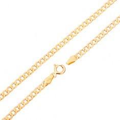 Lanț din aur 375 - zale ovale plate, foarte lucioase, 500 mm - Lantisor aur